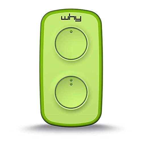 WHY EVO mini telecomando cancello universale rolling code acid green verde, radiocomando multifrequenza apricancello 4 tasti