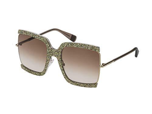 Furla Sonnenbrille SFU276M SNTX gelb größe 58 mm brille für damen