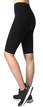 Neonysweets Womens Active Workout Tights Yoga Short Cotton Half Tights Black XL