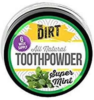 The Dirt All Natural Tooth Powders (Super Mint, Six Week Supply 10g)