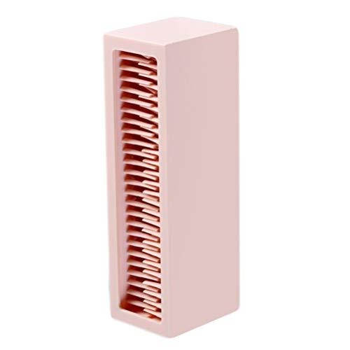 Lurrose Organisateur de Support de Rangement pour Pinceau de Maquillage Séchage à L'air Professionnel en Silicone pour Le Présentoir de Comptoir Conteneur de Brosses de Cosmétiques (Rose)