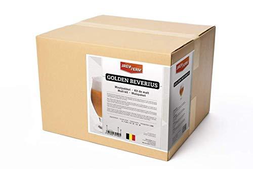 Fertige Malzmischung zum Brauen von 20Liter Golden Beverius Klosterbier - Malzpaket zum Bier brauen - ungeschrotet