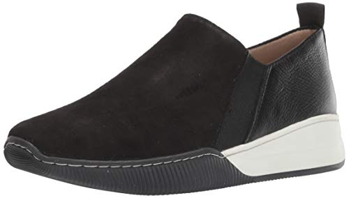 Naturalizer Women's Untold Sneaker, Black Suede, 8.5 M US