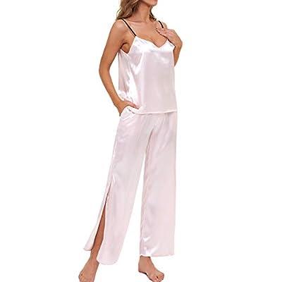 Amazon - 65% Off on  Women's Cami Pajama Set Satin Pjs 2 Piece Sleepwear Lightweight Pants