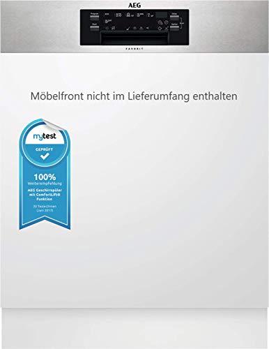 AEG FEE63800PM Integrierter-Geschirrspüler / 60cm / ComfortLift - Hebefunktion / Effizienzklasse D / energiesparend / Besteckschublade / Glasprogramm / Beladungserkennung/Intensivprogramm/extra leise