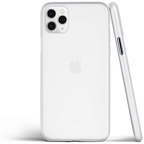 totallee Thin iPhone 11 Pro Max Case, Thinnest Cover Ultra Slim Minimal - for Apple iPhone 11 Pro Max (2019) (Frosted Clear)