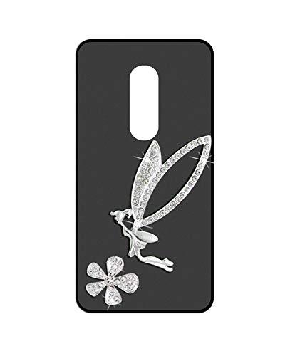 Sunrive Kompatibel mit Wiko Wim Lite Hülle Silikon,Glitzer Diamant Strass Handyhülle matt Schutzhülle Etui 3D Hülle Backcover (Elfen) MEHRWEG+Gratis Universal Eingabestift