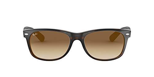 Ray-Ban New Wayfarer, Gafas de Sol Unisex adulto, Multicolor (Tortoise 710/51), 52 mm