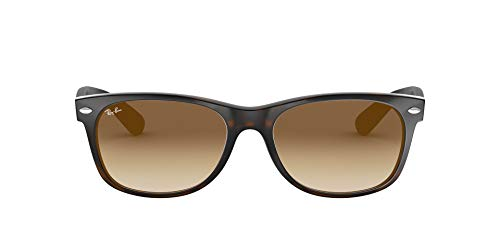Ray-Ban New Wayfarer, Gafas de Sol Unisex adulto, Multicolor (Tortoise 710/51), 52 mm