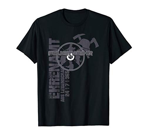 Feuerwehr Notruf 112 Rettungsdienst Firefighter Designmotiv T-Shirt