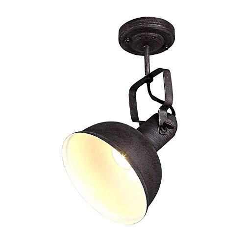 PLLP Corredor de la Lámpara de Techo Industrial Loft Creativo Spotlight Hierro Forjado E27 Nostálgico Lámpara Del Techo de la Personalidad de una Sola Cabeza Village Granja de Techo Escaleras Pasillo