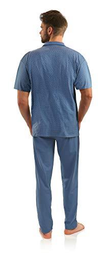 Sesto Senso Pijama Hombre Botones Verano Algodón Pantalon Largo Camisa Corto M Jeans Anclas