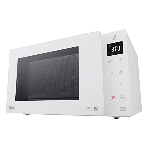 LG MH6535GDH Microondas Grill Smart Inverter Microondas 1000 W, Grill 900 W, Micro+Grill 1450 W, 25 litros de capacidad, Display LED, Steam Bowl, Plato interior 292 mm, Color Blanco