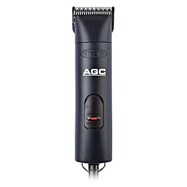 Andis 1-Speed Detachable Blade Clipper Kit, Professional Animal/Dog Grooming, Black, AGC  (22545)