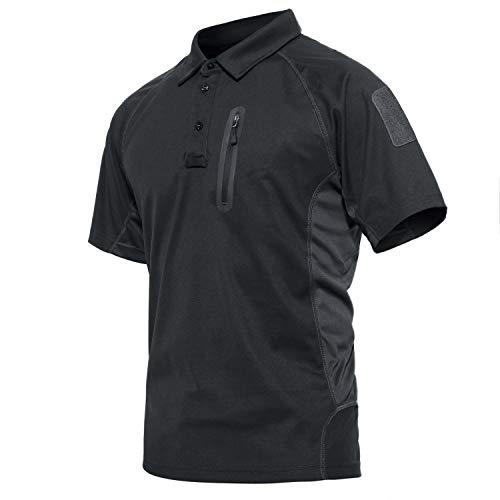 CRYSULLY Male Spring Safari Fatigue Outdoors Polo Shirt Stylish Classic Climbing Sailing Field Woodland Battle T-Shirt Grey