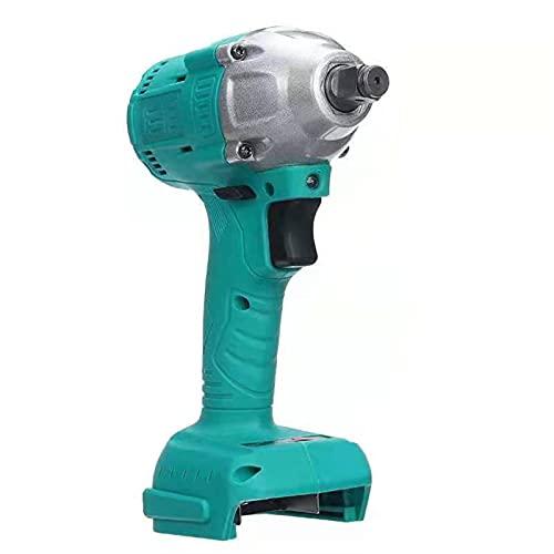 Taladro de perforación de potencia Llave de impacto sin cepillo inalámbrico 1/2 Socket Destornillador eléctrico recargable herramienta eléctrica (Color : Mint Green)