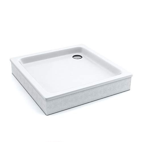 AQUABAD® Duschwanne Comfort Forta 80x80cm Quadrat zum befliesen
