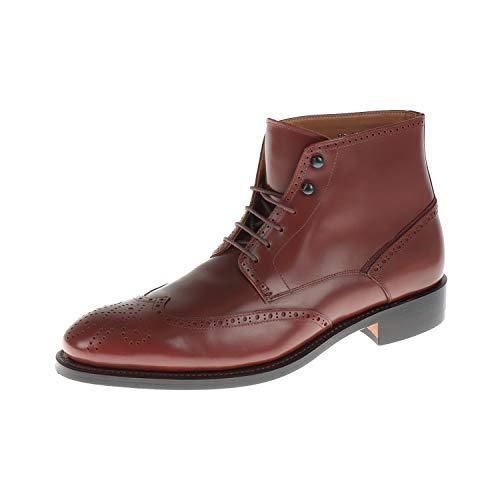 Prime Shoes Herren Schuhe Stiefel Schnürschuh Budapester Tecno Horse Cognac PS17213FS (10.5 UK)