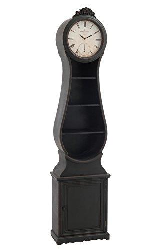 Comtoise bois noir vieilli 48,5x25x199,5cm