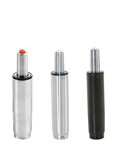 CLP Gaslift für Bürostühle XL-XXL I Gasdruckfeder für diverse Schreibtischstühle I verschiedene Modelle, Farbe:chrom, Größe:200 mm