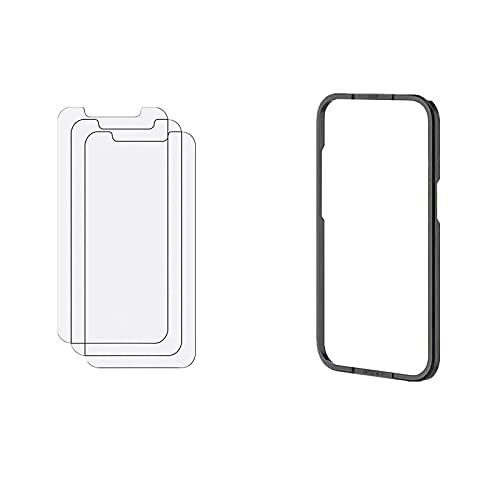 Panzerglas Kompatibel mit iPhone 13 Pro Gehärtetes Glas Schutzfolie 9H Härte Kratzfest Blasenfrei 3 Stück Schutzfolie und 2 Stück Kamera Hartglasfolie HD Displayschutzfolie MuSheng