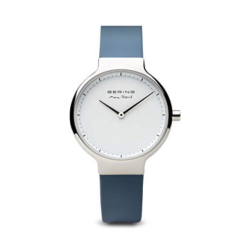BERING Reloj Analógico para Mujer de Cuarzo con Correa en Silicona 15531-700