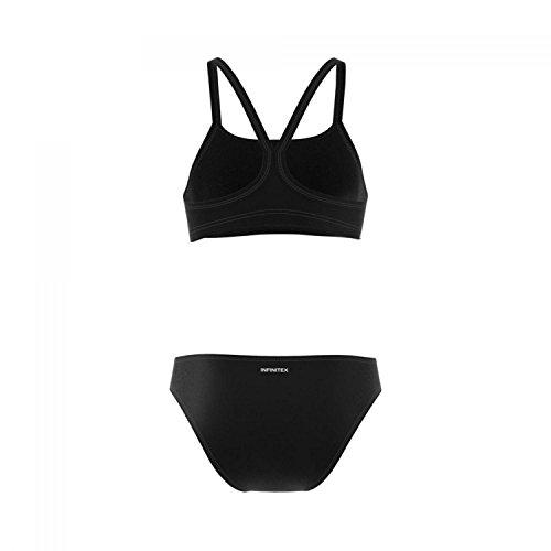 adidas Damen Essence Core 3-Stripes Bikini Set, Black/White, 36