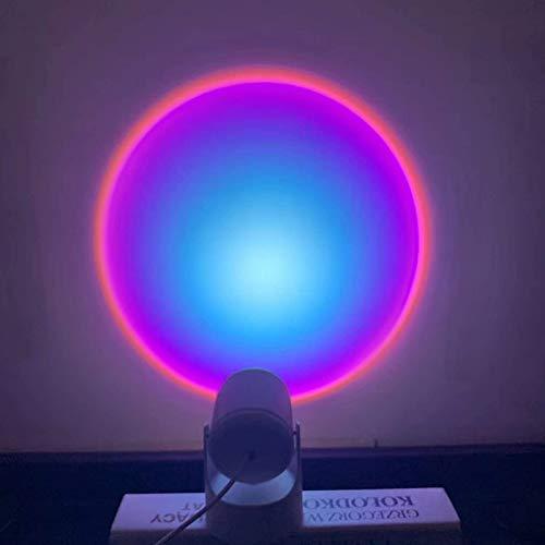 YQZ Lámpara de proyección de Arco Iris de rotación de 90 Grados, lámpara LED de proyector de luz Nocturna, luz Nocturna de Puesta de Sol para decoración de Dormitorio de Fiesta en casa