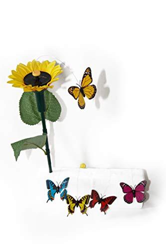 Unbekannt 4 Drehende Solarschmetterlinge Solar Figur Schmetterlinge