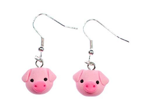 Schwein Ohrringe Ohrhänger Miniblings Hänger Tier Glücksschwein Glück Kopf