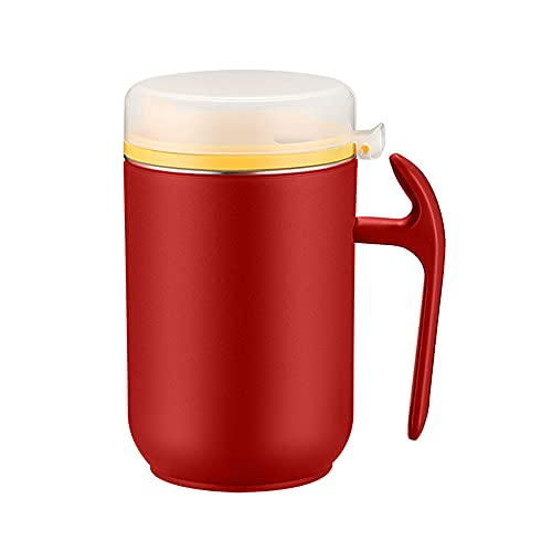 Taza de acero inoxidable 304 aceite de oliva lata con tapas de grasa de tocino contenedor de doble capa Espresso tazas vaso de agua taza de té