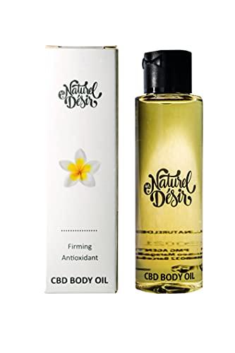 Naturel Désir - Aceite Corporal Hidratante con CBD Natural Orgánico y Vegano, Bio Oil, Aceite de Semillas de Cáñamo, Cosmética Natural, Hidratante Calmante Antioxidante, Antiedad 100 ml