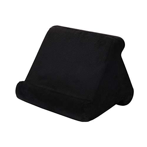 Weicher Tablet Kissenstander fur iPad Handykissen Schosstander Tablet Stander Kissen Halter fur Bett Schreibtisch Auto Sofa Schos Boden Couch mehrwinkeliges weiches Kissen schwarz