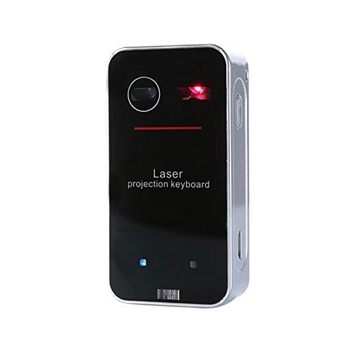 Tragbare Projection Keyboard, Bluetooth drahtlose virtuelle Tastatur mit Gestensteuerung, Ideal Zubehör für Handys, Tablets, Laptops, PC, Computer