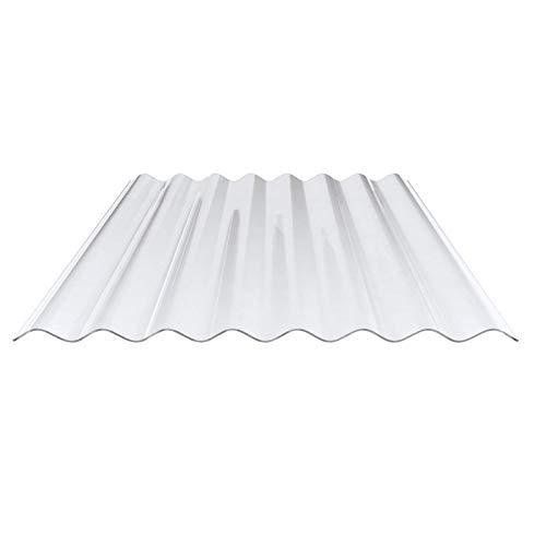 Lichtplatte | Wellplatte | Lichtwellplatte | Profil 130/30 | Material PVC | Breite 1000 mm | Länge 1,25 m | Stärke 1,4 mm | Farbe Klarbläulich