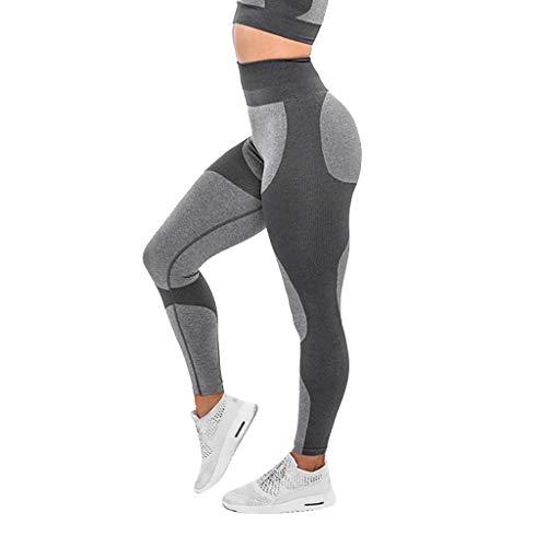 HuaCat Yogahosen Damen Hohe Taille Hygroskopisch Nahtlos Hosen Mode Gamaschen Hohe Taille Yogahosen Frau Gamaschen Laufen Sport Yoga-Hose