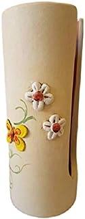 Portabicchieri Cucina in Ceramica, Porta Bicchieri di Plastica, Linea Fiori e Farfalle, Le Ceramiche Del Re