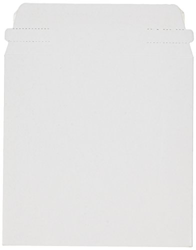 5 x 5 Inch White Cardboard CD/DVD Mailers With Flap & Seal, 100 Pack