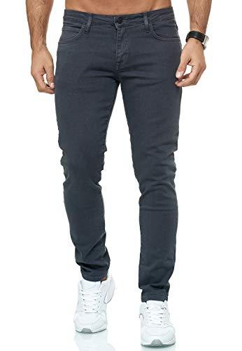 Red Bridge Herren Jeans Hose Slim-Fit Röhrenjeans Denim Colored Anthrazit W32 L30