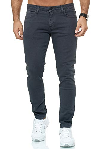 Redbridge Vaqueros Hombres Pantalones Denim Colored Slim Fit Gris Oscuro W31 L32