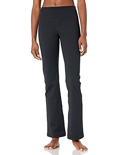 Amazon Brand - Core 10 Women's 'Build Your Own' Yoga Pant - High Waist Boot Cut Pant, L, Black
