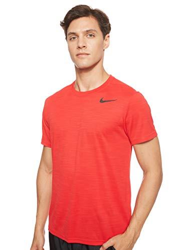 NIKE M Nk Superset Top SS Camiseta, Hombre, Rojo (University Red/Black)