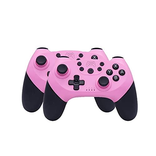 Sfqryp Gamepad inalámbrico de Gamepad Compatible con Bluetooth USB Controlador de Interruptor de Joystick (Color : 2-Pink)