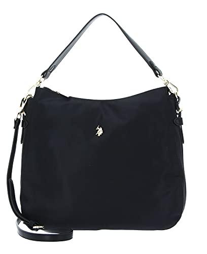 US POLO ASSN - Houston L Hobo Bag Nylon/PU (Black)