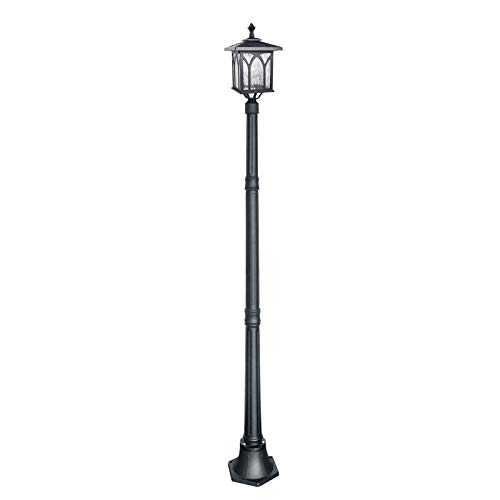 Kemeco ST4328B Solar Lamp Post Light LED Cast Aluminum Street Light for Outdoor Landscape Decor Pathway Driveway Patio Garden Yard