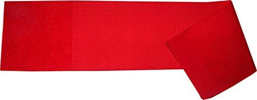 größenverstellbare Armbinde/Mediaband bedruckt mit IHREM INDIVIDUELLEM TEXT (SENIOR 25-36 cm) (Farbe rot)