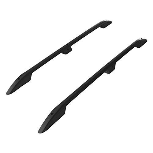 accessorypart Barras de Techo Aluminio rieles Portaequipajes Barras Superiores Rail laterales juego para Opel Combo E 2019-2021 L1/H1 SWB Negro