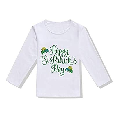 St.Patrick's Day Cartoon Short Sleeve T-Shirt All-Match Blouse Tops for 1-6 Years Little Kids Toddler Baby Girls Boys Pullover Soft Clothes (G, 3-4 Years Old)