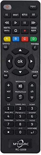 MYHGRC Telecomando universale tv compatibile con telecomandi multimarca, facile da abbinare a Samsung LG Sony TCL Insignia Hisense Sharp Philips Toshiba Hitachi La configurazione della TV è semplice