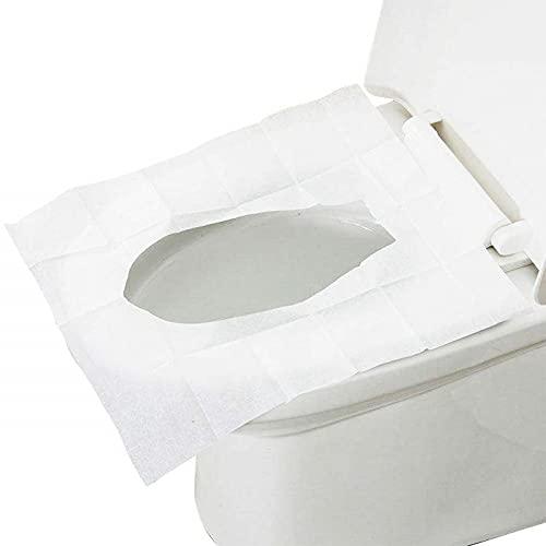 VIRSUS 10 Copriwater di Carta monouso Colore Bianco, Copri Tazza WC igienica, Antibatterico, Dimensione Universale per bagni pubblici, Viaggi, Bambini, Confezione Tascabile 1 CF x 10 Pezzi